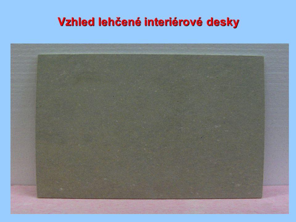 Vzhled lehčené interiérové desky