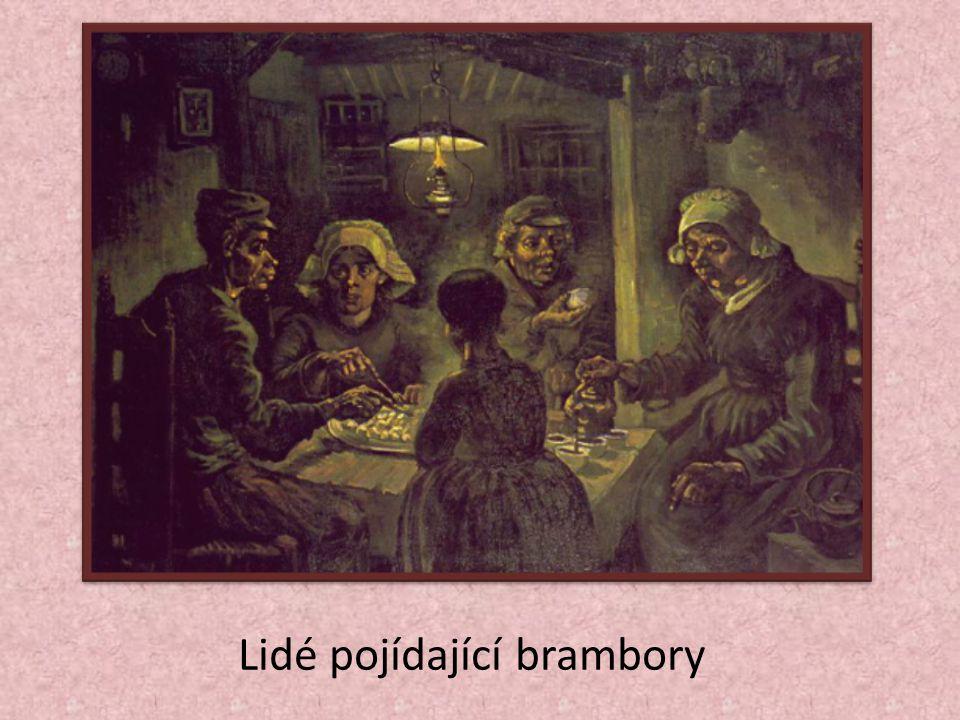 Lidé pojídající brambory