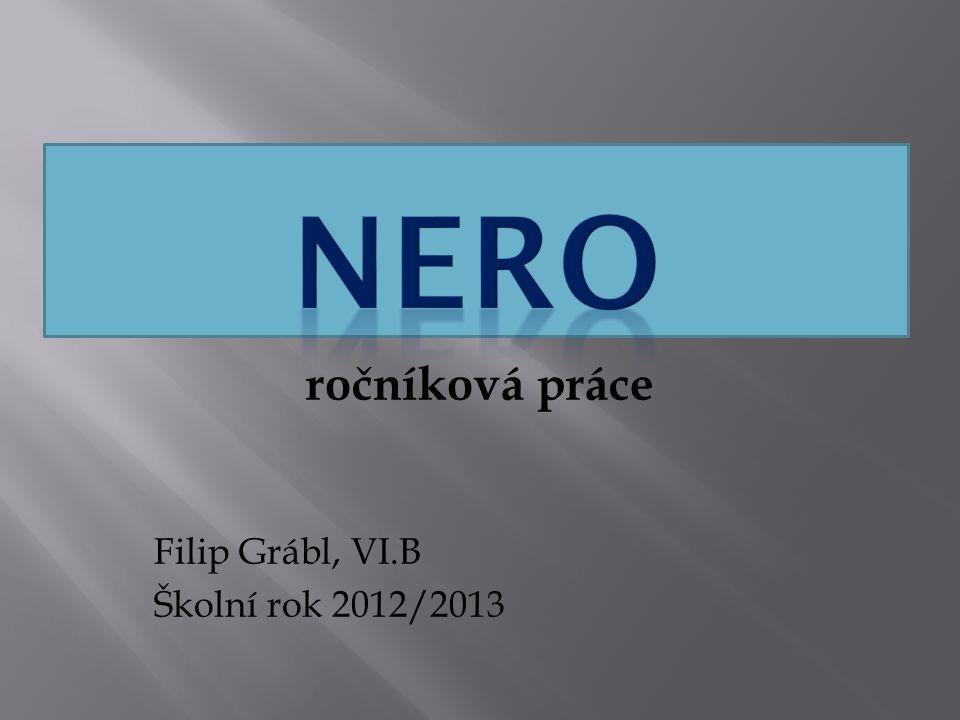 ročníková práce Filip Grábl, VI.B Školní rok 2012/2013