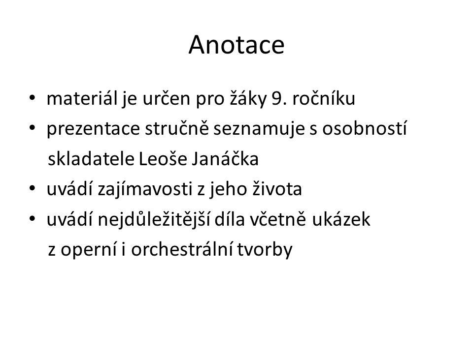 český hudební skladatel 20. století