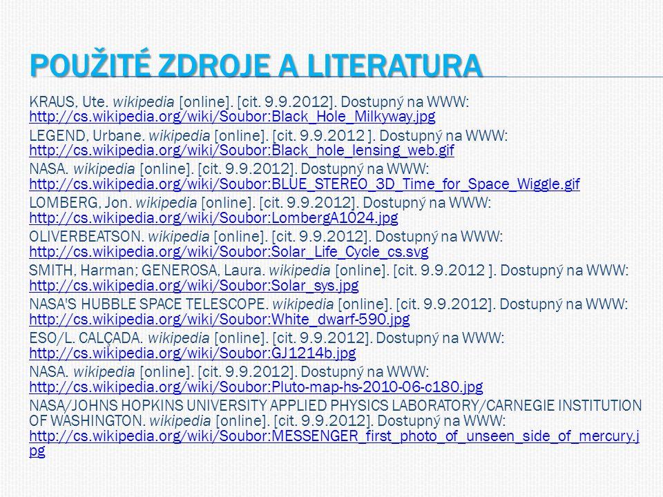 POUŽITÉ ZDROJE A LITERATURA KRAUS, Ute. wikipedia [online].