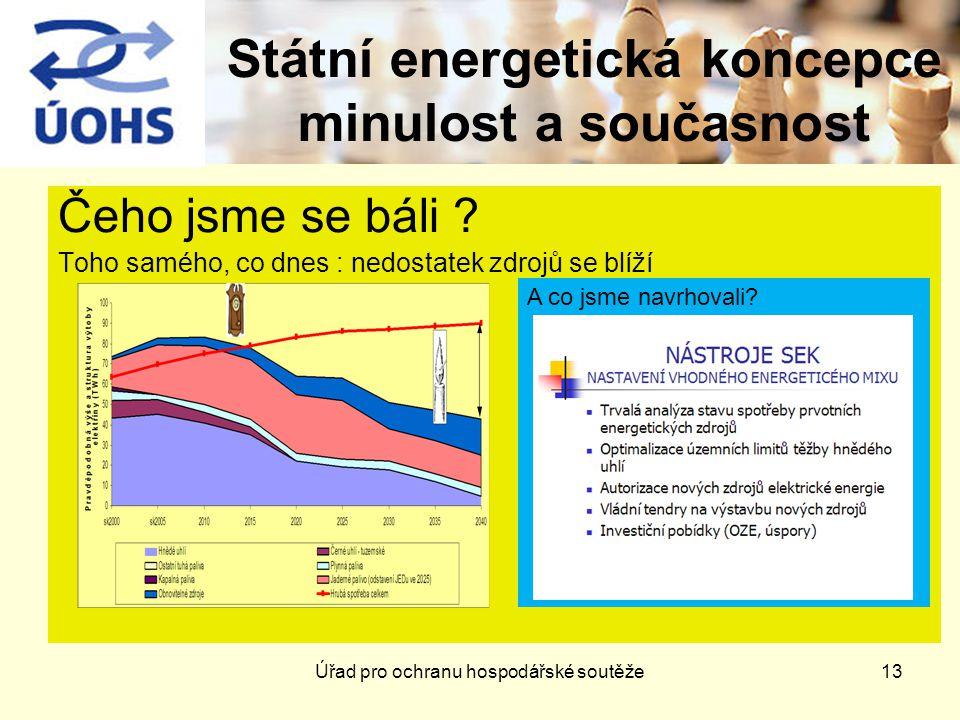 13 Státní energetická koncepce minulost a současnost Čeho jsme se báli .