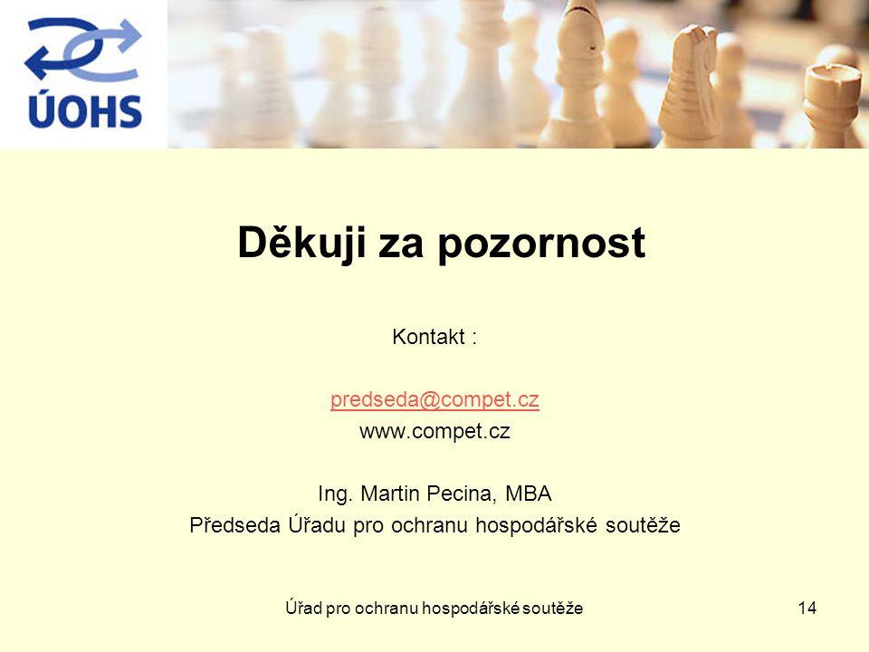 Děkuji za pozornost Kontakt : predseda@compet.cz www.compet.cz Ing.