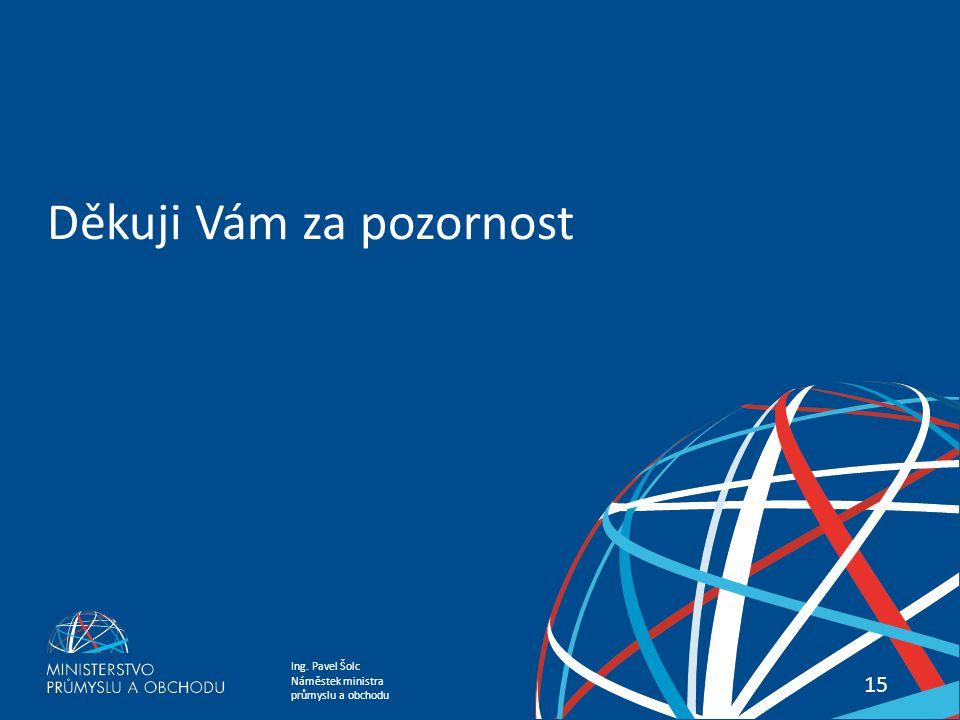 Ing. Pavel Šolc Náměstek ministra průmyslu a obchodu PREZENTACE WORLD ENERGY OUTLOOK 2014 15 Děkuji Vám za pozornost
