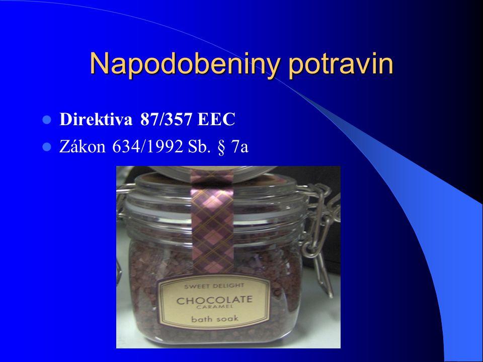 Direktiva 87/357 EEC Zákon 634/1992 Sb. § 7a
