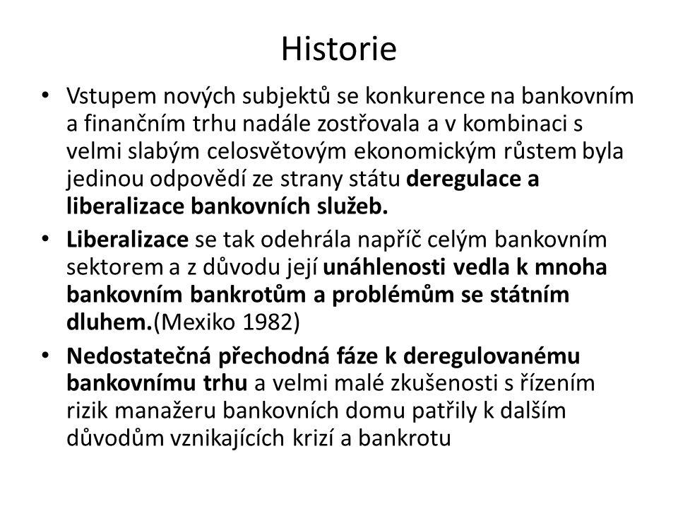 Historie Vstupem nových subjektů se konkurence na bankovním a finančním trhu nadále zostřovala a v kombinaci s velmi slabým celosvětovým ekonomickým r