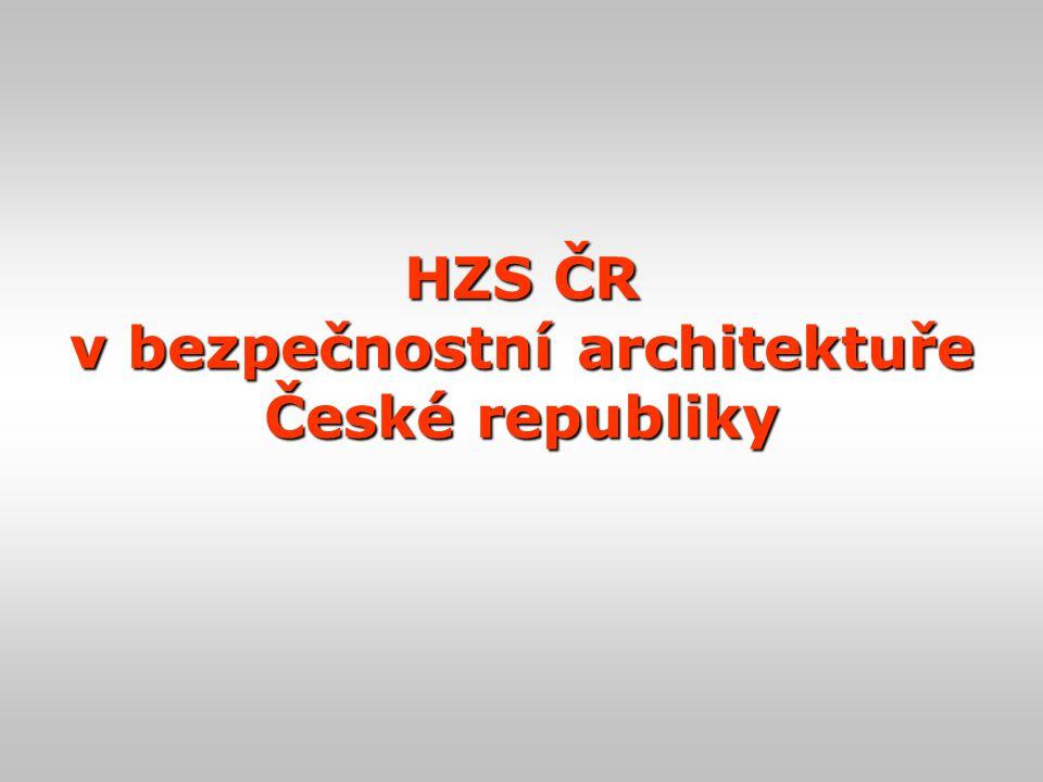 HZS ČR v bezpečnostní architektuře České republiky