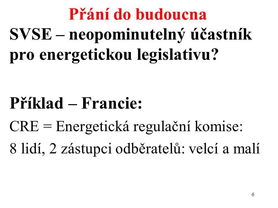 6 SVSE – neopominutelný účastník pro energetickou legislativu.