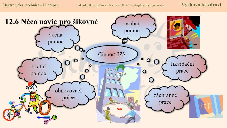 12.6 Něco navíc pro šikovné Elektronická učebnice - II. stupeň Základní škola Děčín VI, Na Stráni 879/2 – příspěvková organizace Chemie Elektronická u