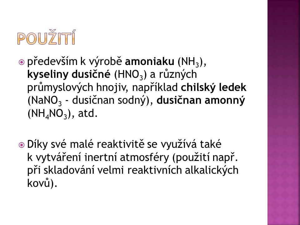 NO 2 N 2 O 4 Oxid dusičitý Dimerní forma N 2 O 4 N 2 O 4 ↔ 2 NO 2