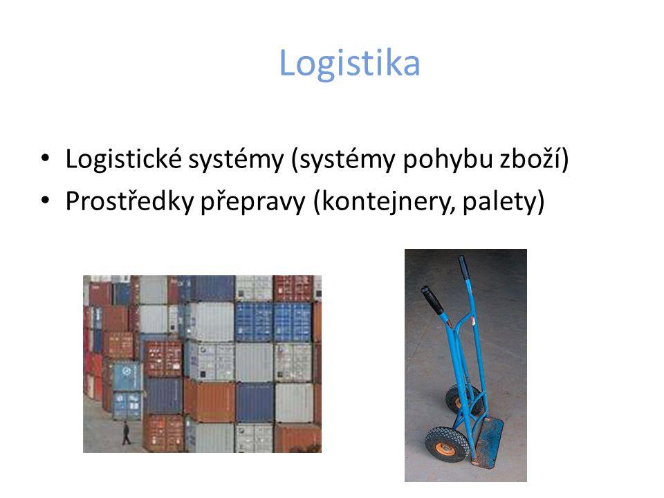 Logistika Logistické systémy (systémy pohybu zboží) Prostředky přepravy (kontejnery, palety)