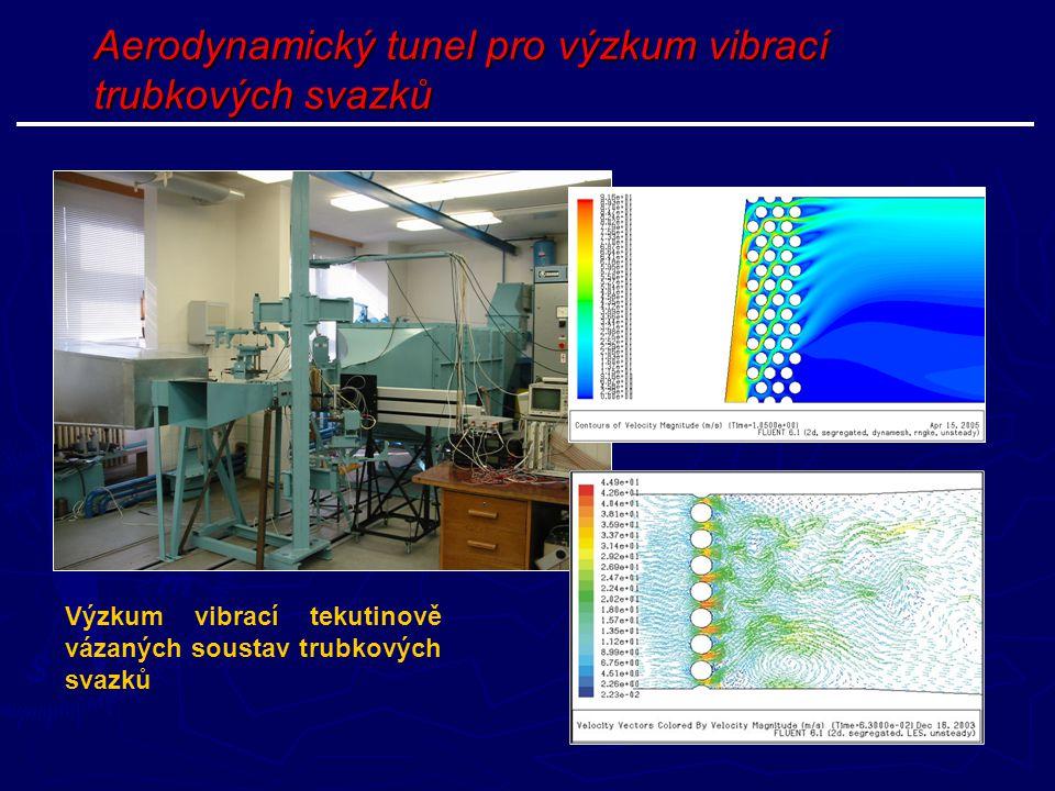 Aerodynamický tunel pro výzkum vibrací trubkových svazků Výzkum vibrací tekutinově vázaných soustav trubkových svazků