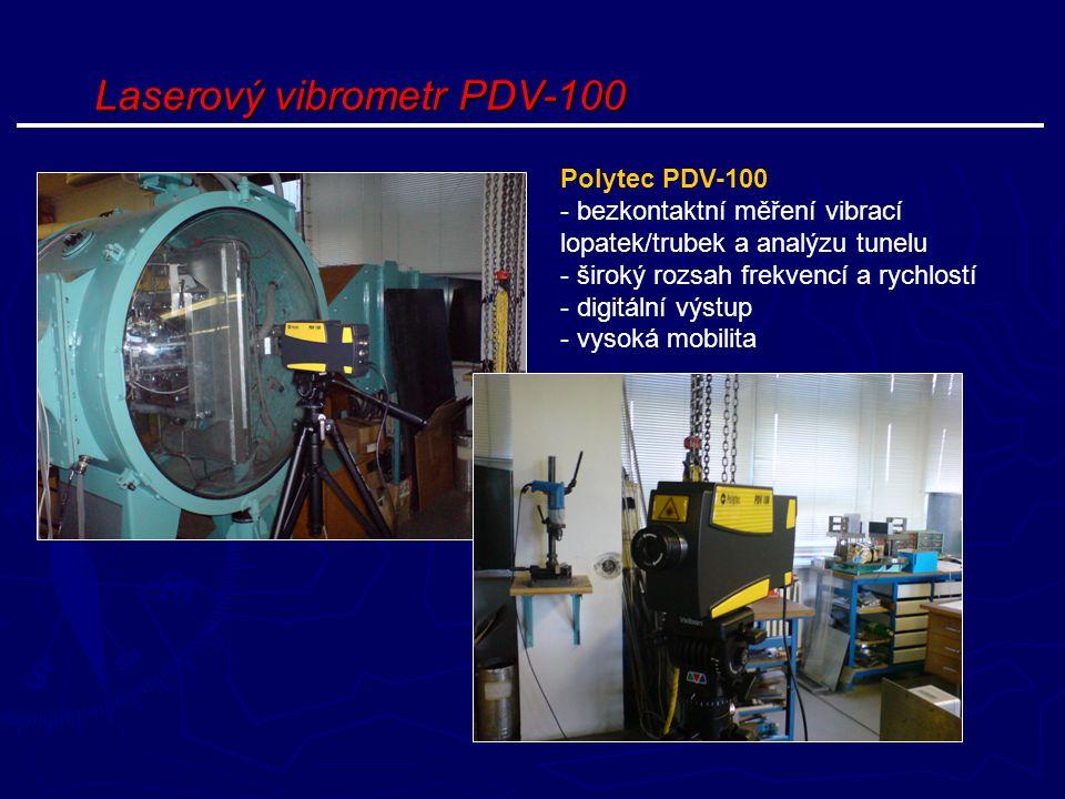 Laserový vibrometr PDV-100 Polytec PDV-100 - bezkontaktní měření vibrací lopatek/trubek a analýzu tunelu - široký rozsah frekvencí a rychlostí - digit