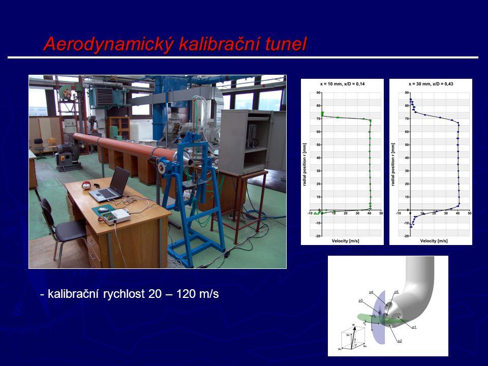 Aerodynamický kalibrační tunel - kalibrační rychlost 20 – 120 m/s