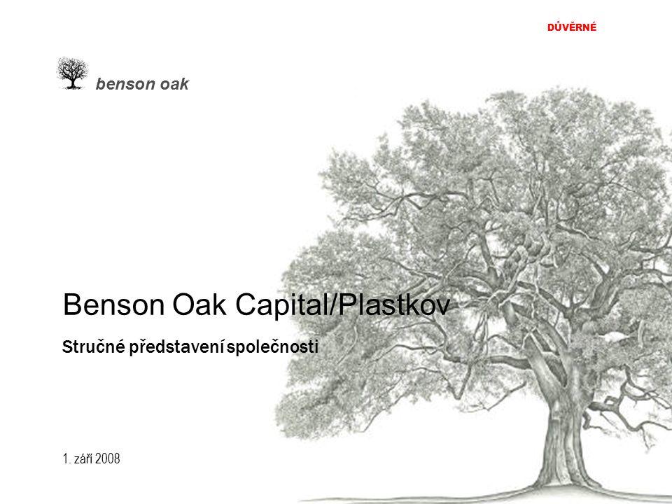 DŮVĚRNÉ benson oak 2 Historie NEJSTARŠÍ ČESKÁ NEZÁVISLÁ INVESTIČNĚ BANKOVNÍ SPOLEČNOST  Od roku 1991; více než 75 transakcí v celkové hodnotě přesahující 6 miliard euro.