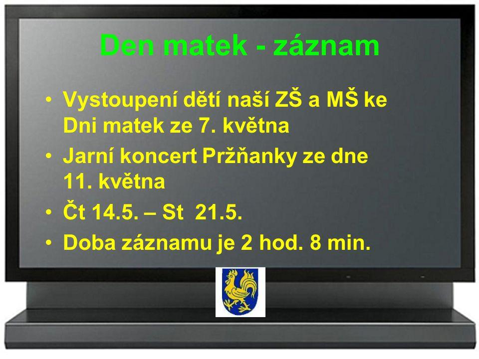 OZNÁMENÍ Obecní úřad Pržno – silniční správní úřad Vám oznamuje, že v pondělí 19.