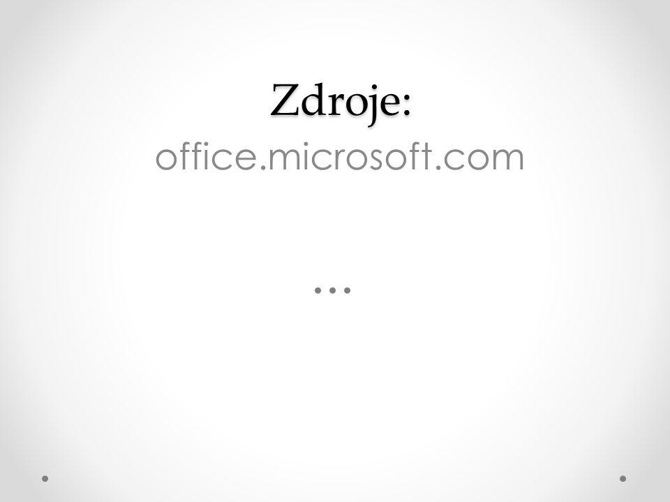 Zdroje: Zdroje: office.microsoft.com