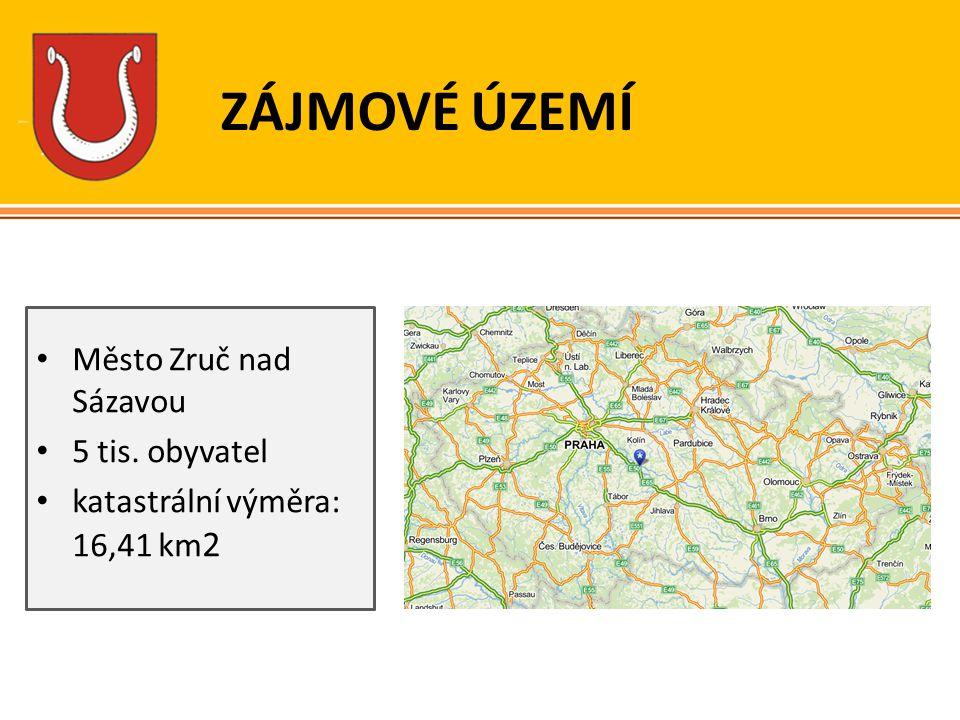 ZÁJMOVÉ ÚZEMÍ Město Zruč nad Sázavou 5 tis. obyvatel katastrální výměra: 16,41 km 2