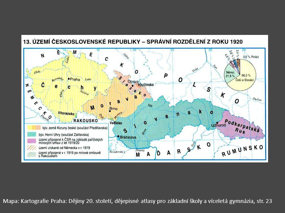 Mapa: Kartografie Praha: Dějiny 20. století, dějepisné atlasy pro základní školy a víceletá gymnázia, str. 23