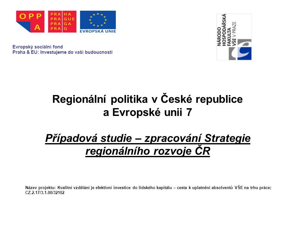 4.Dosavadní systém podpory reg.rozvoje v ČR 4.1.