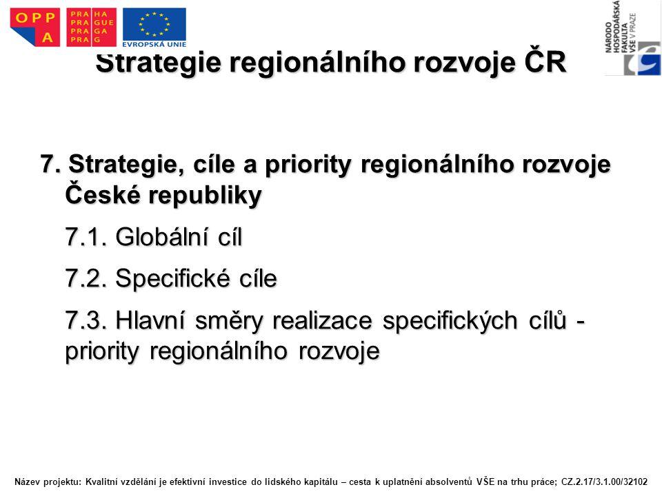 Strategie regionálního rozvoje ČR 7.