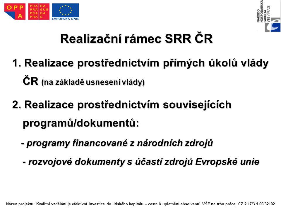 Realizační rámec SRR ČR 1.