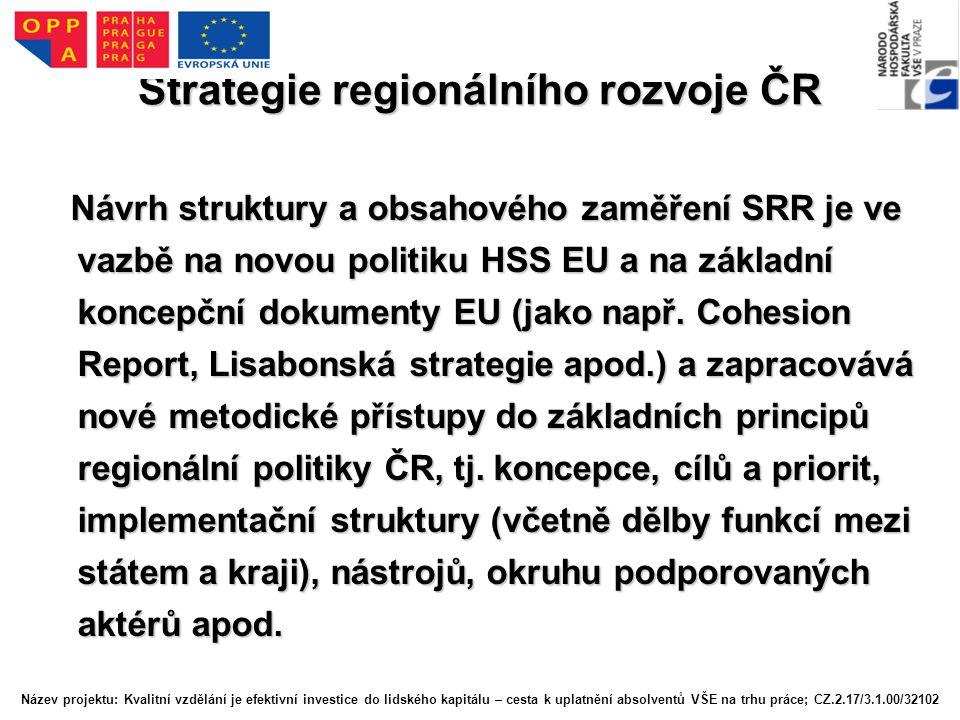 PO 4: Infrastruktura P.4.1: Dokončení napojení regionů na evropskou dopravní síť a její systematická modernizace P.4.2: Rozvoj regionální dopravní infrastruktury a bezpečnosti silničního provozu P.4.3: Podpora, integrace a zvýšení kvality systémů veřejné osobní (hromadné) dopravy v regionech P.4.4: Rozvoj energetických, spojových a vodohospodářských sítí a zařízení v regionech Název projektu: Kvalitní vzdělání je efektivní investice do lidského kapitálu – cesta k uplatnění absolventů VŠE na trhu práce; CZ.2.17/3.1.00/32102