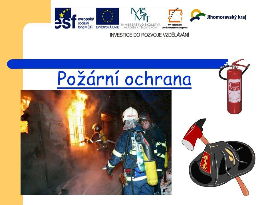 Charakteristika požární ochrany Tato profese je často spojována s Policií a Zdravotnictvím, a to nejspíše kvůli tomu, že též denně zachraňují životy a musí znát a umět provést 1.
