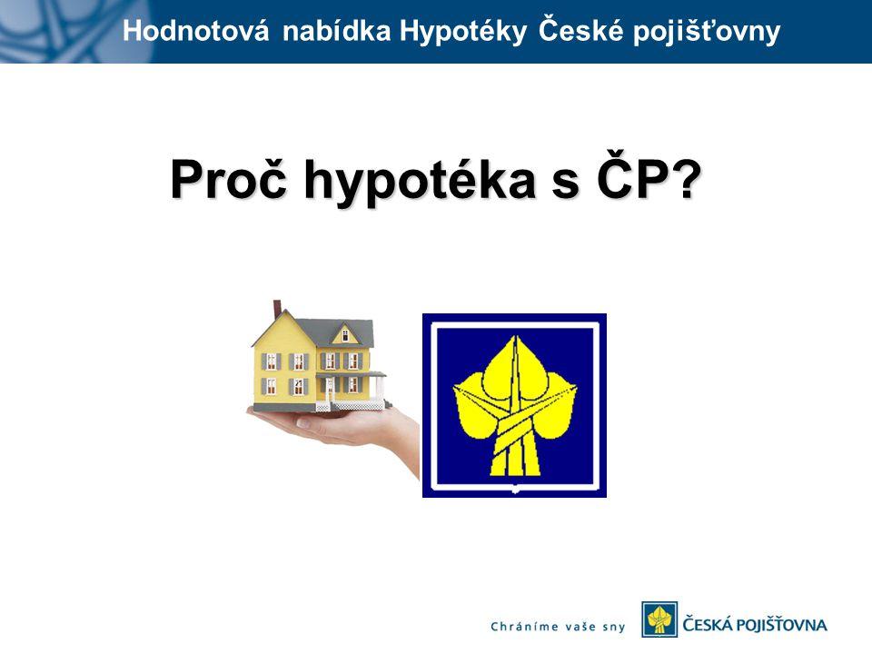 Hodnotová nabídka Hypotéky České pojišťovny Proč hypotéka s ČP