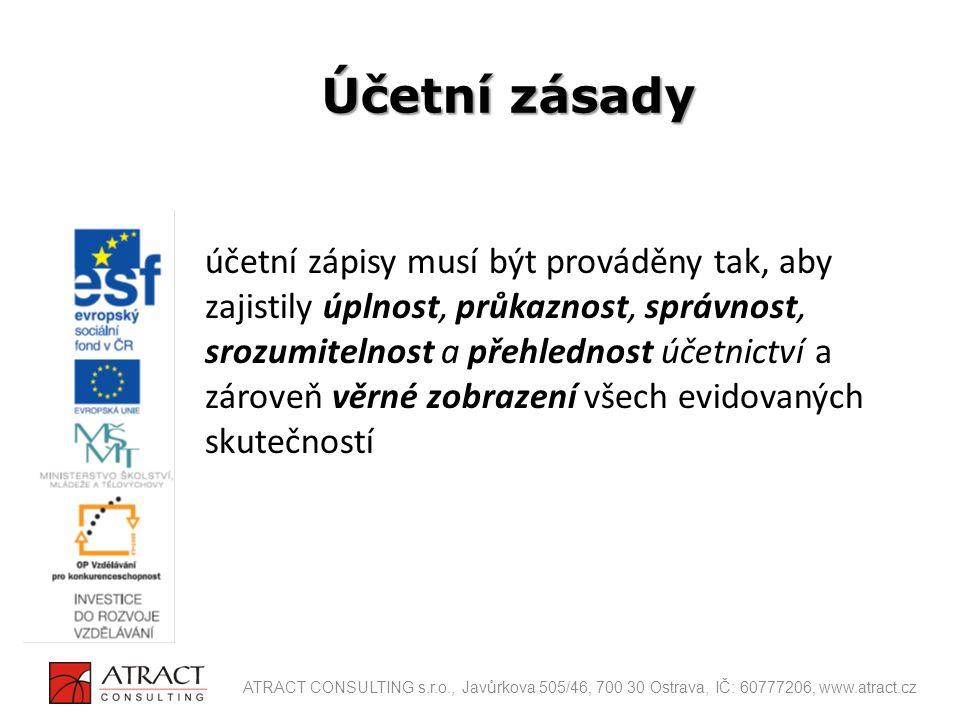 ROZVAHA VÝKAZ ZISKŮ A ZTRÁT CASH FLOW VÝKAZ MAJETKU – přehled o změnách kapitálu Účetní výkazy ATRACT CONSULTING s.r.o., Javůrkova 505/46, 700 30 Ostrava, IČ: 60777206, www.atract.cz