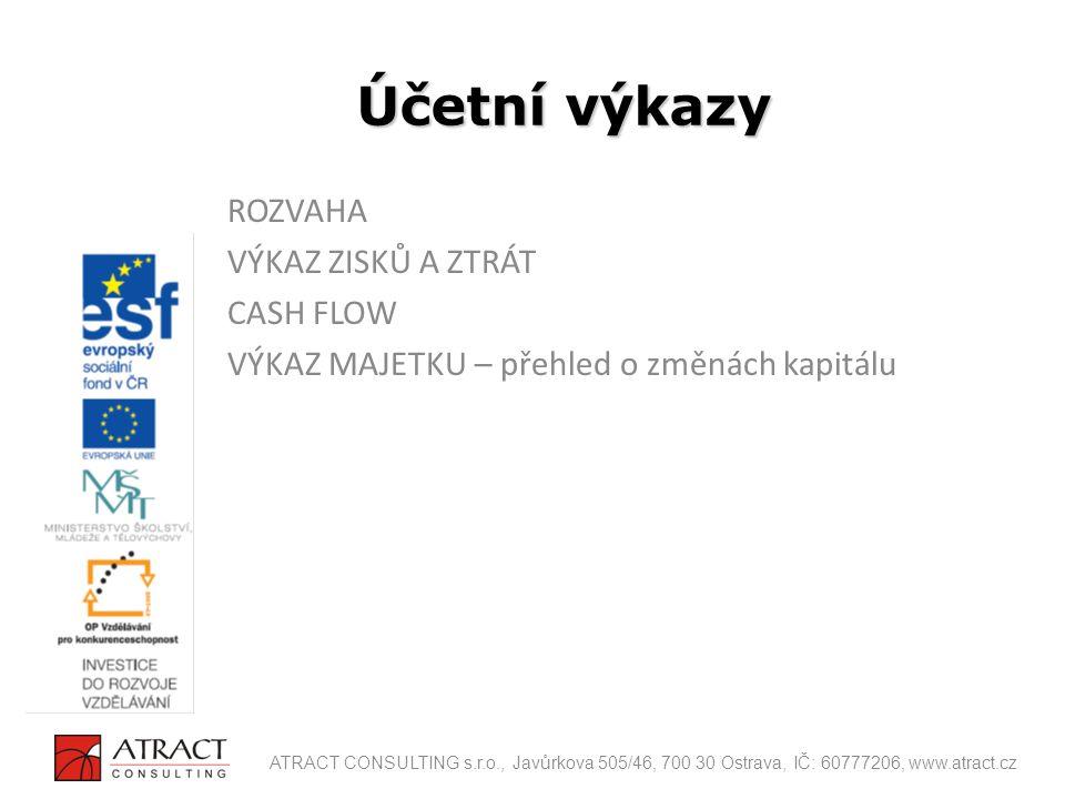 Vazby mezi výkazy ATRACT CONSULTING s.r.o., Javůrkova 505/46, 700 30 Ostrava, IČ: 60777206, www.atract.cz