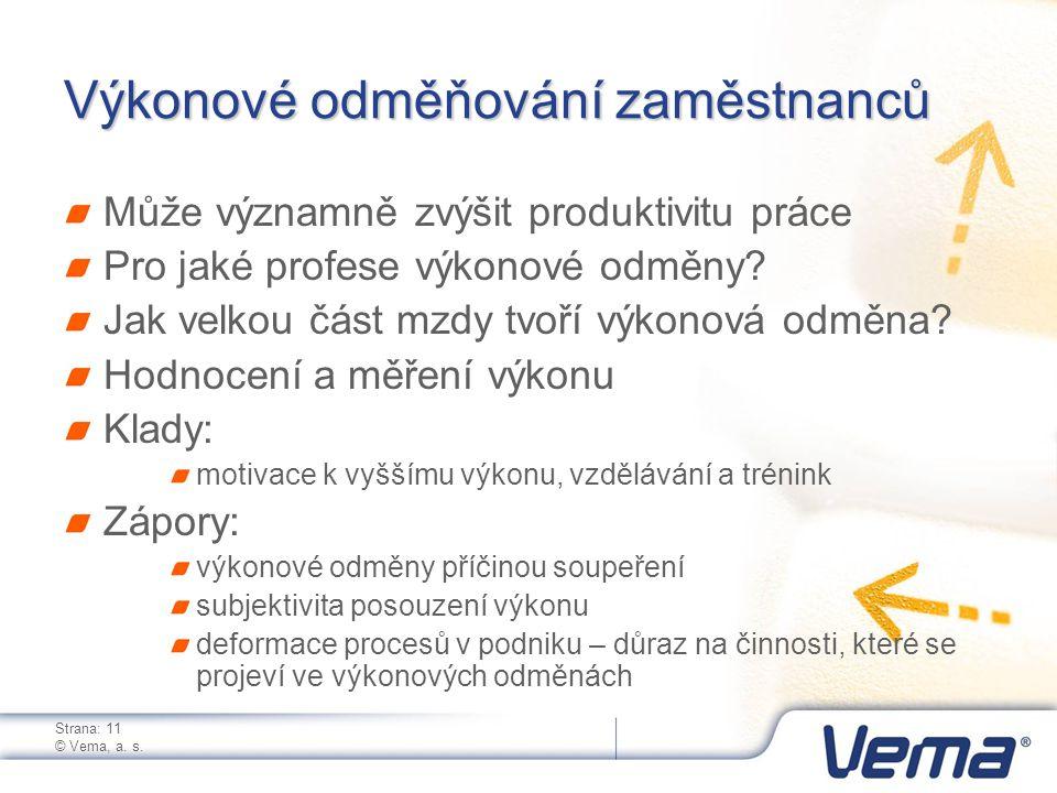 Strana: 11 © Vema, a. s.