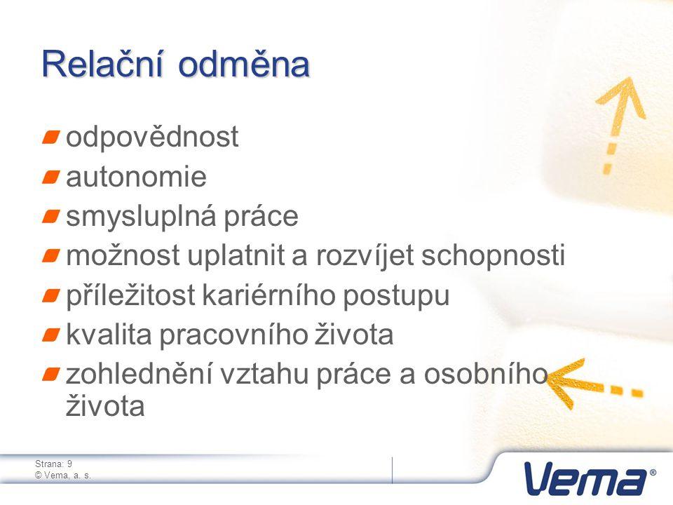 Strana: 10 © Vema, a.s.