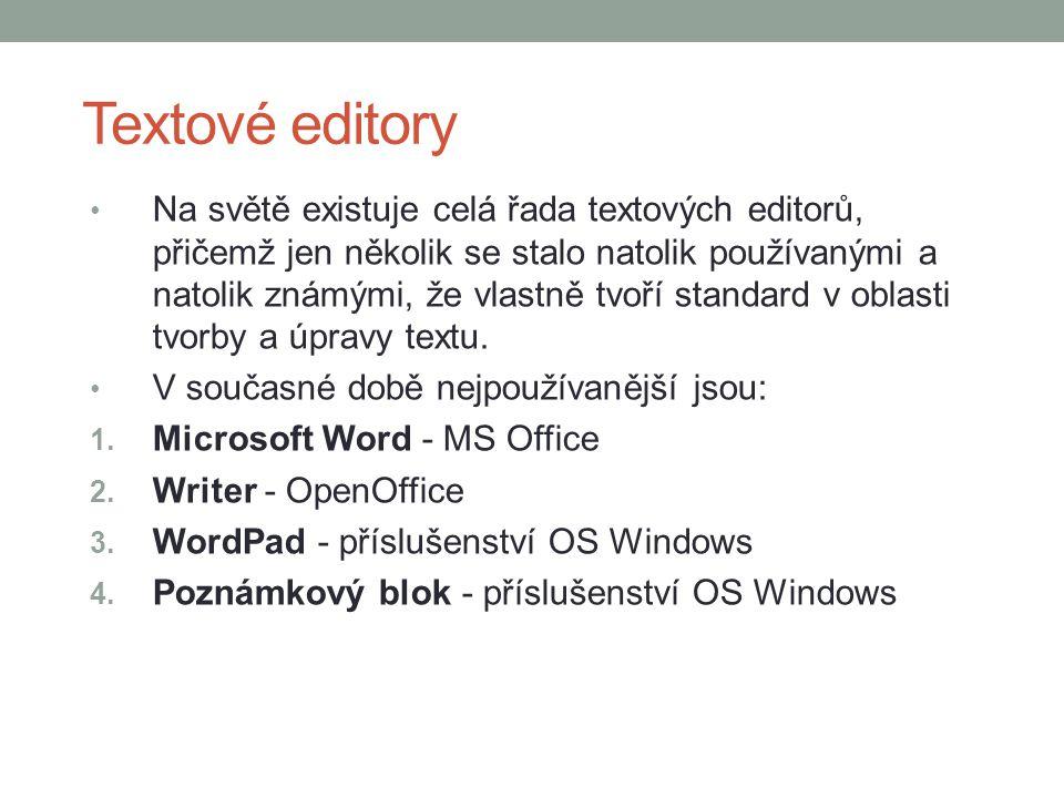 Microsoft Word Patří k nejrozšířenějším textovým editorům na světě.