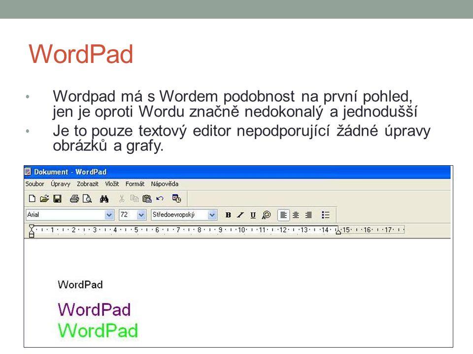 Poznámkový blok Jde o jeden z nejběžnějších čistě textových editorů.