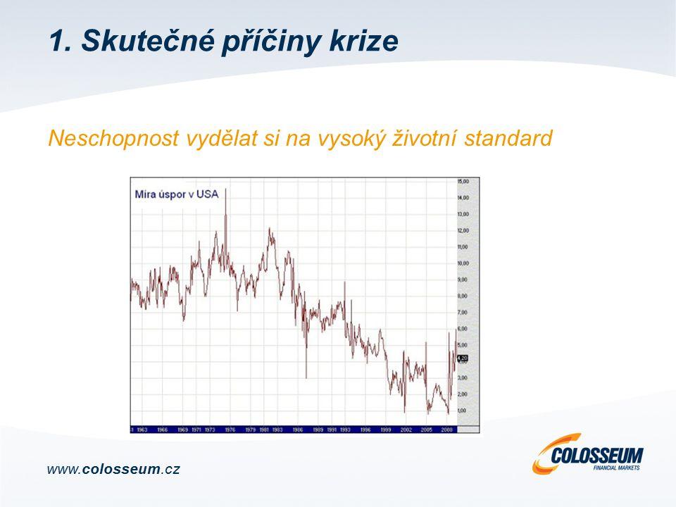 Neschopnost vydělat si na vysoký životní standard www.colosseum.cz 1. Skutečné příčiny krize