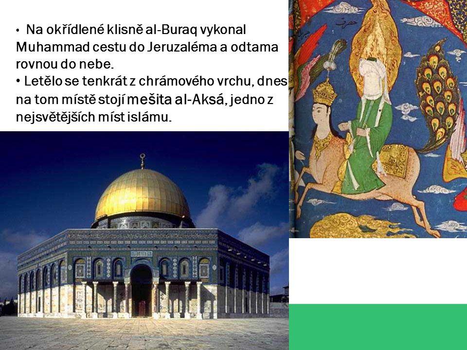 """Pět pilířů islámu 1.Šaháda – vyznání víry """"Není Boha kromě Boha a Muhammad je prorok boží. 2.Salát – modlitba Muslim se modlí pětkrát denně ráno, v poledne, odpoledne, za soumraku a v noci."""