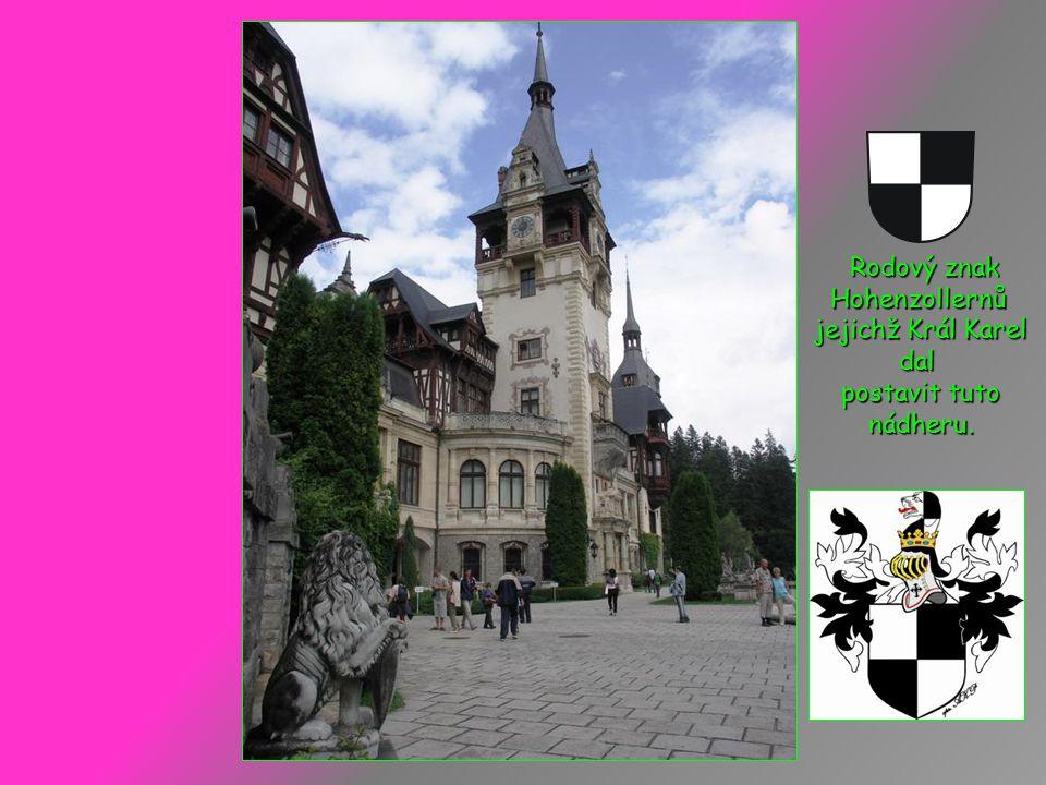 Rodový znak Hohenzollernů jejichž Král Karel dal postavit tuto nádheru.