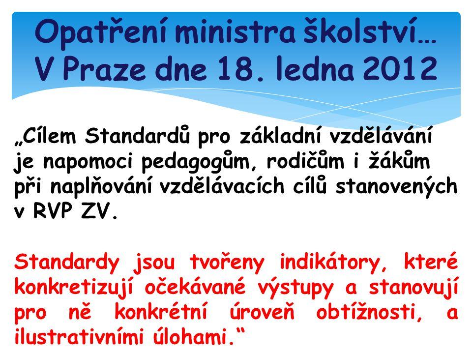 Opatření ministra školství… V Praze dne 18.