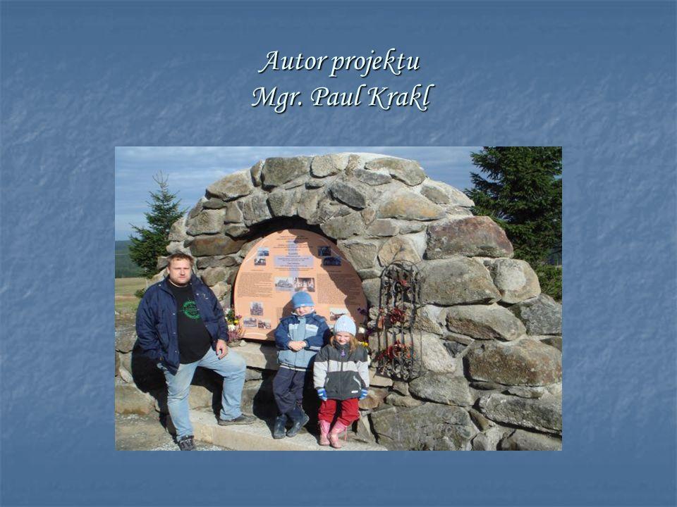 Autor projektu Mgr. Paul Krakl