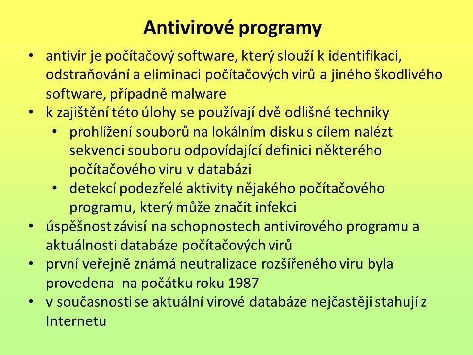 antivir je počítačový software, který slouží k identifikaci, odstraňování a eliminaci počítačových virů a jiného škodlivého software, případně malware