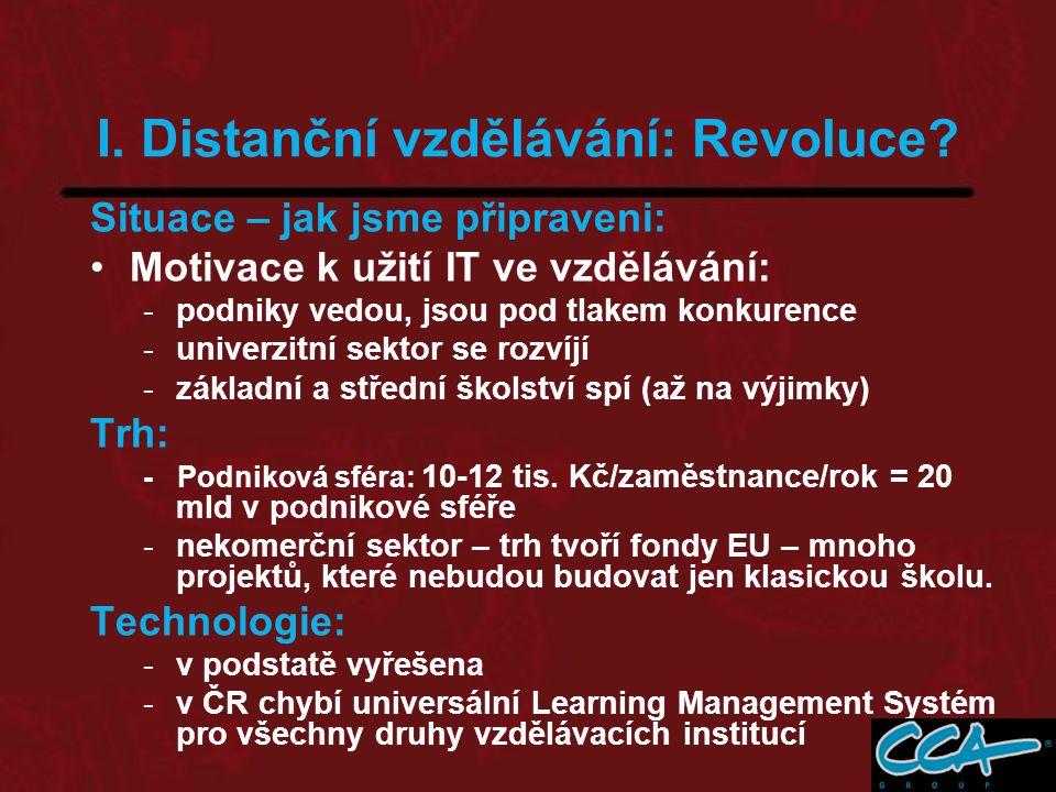 I. Distanční vzdělávání: Revoluce.