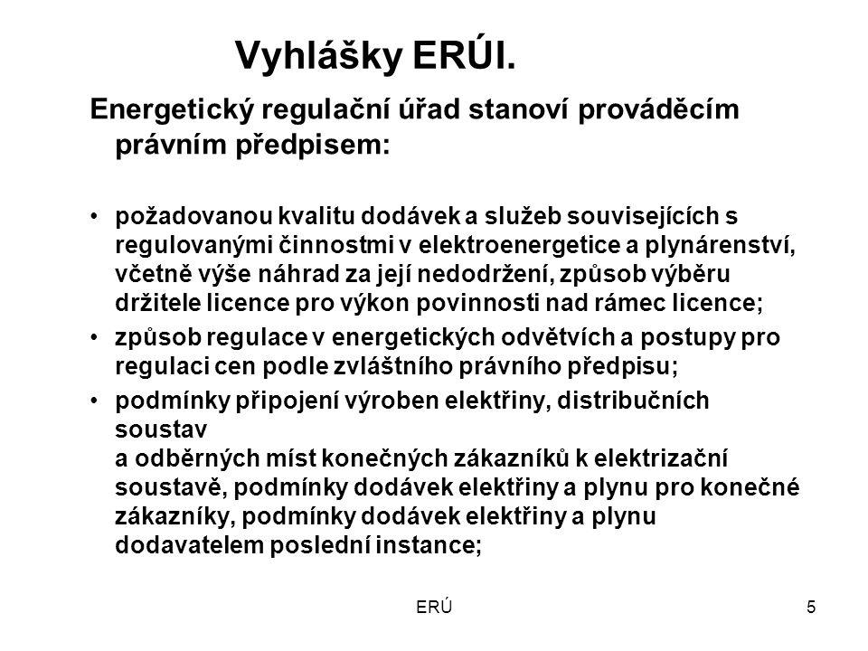ERÚ16 Regulované ceny v elektroenergetice od 1.