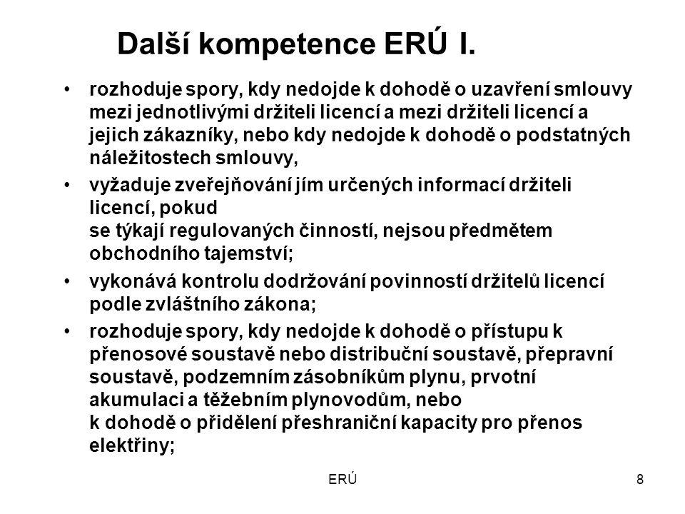 ERÚ19 Regulace v EU a v ČR a vliv nové legislativy na ERÚ