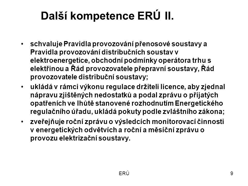 ERÚ9 Další kompetence ERÚII.