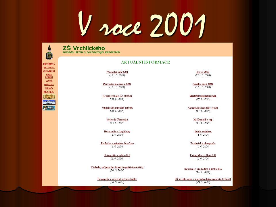 V roce 2001 V roce 2001