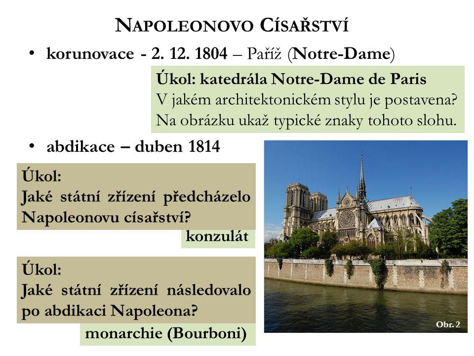 monarchie (Bourboni) konzulát N APOLEONOVO C ÍSAŘSTVÍ korunovace - 2.