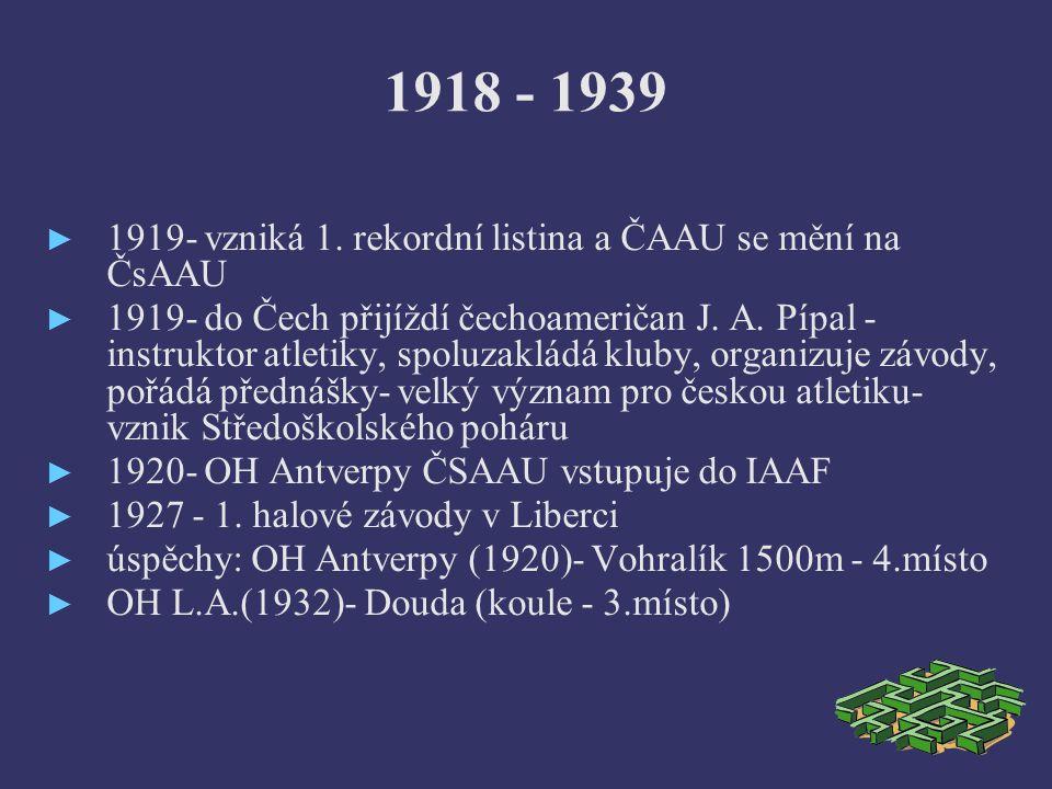 1918 - 1939 ► 1919- vzniká 1.