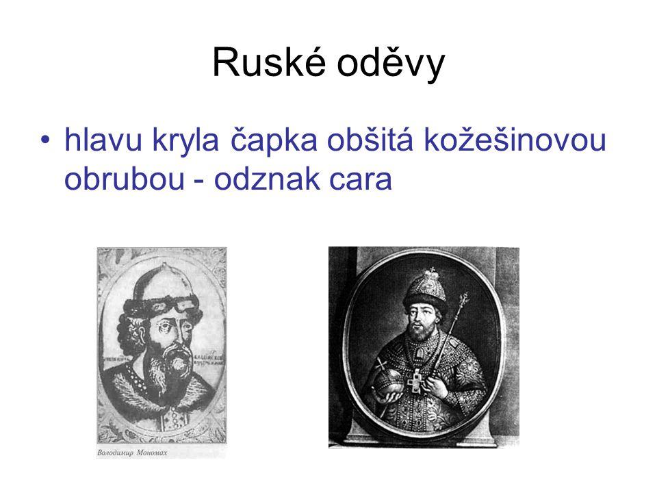 hlavu kryla čapka obšitá kožešinovou obrubou - odznak cara Ruské oděvy
