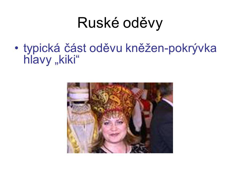 """typická část oděvu kněžen-pokrývka hlavy """"kiki Ruské oděvy"""